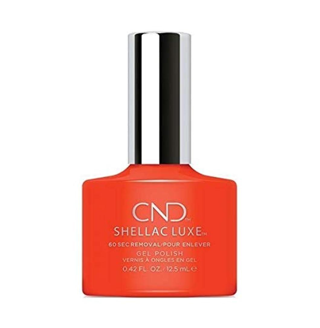 フォーマット複製する発音するCND Shellac Luxe - Electric Orange - 12.5 ml / 0.42 oz