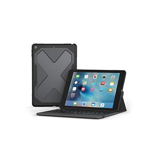 ZAGG Rugged Messenger Keyboard Folio Case for Apple iPad Air / Air 2 - Black (Renewed)