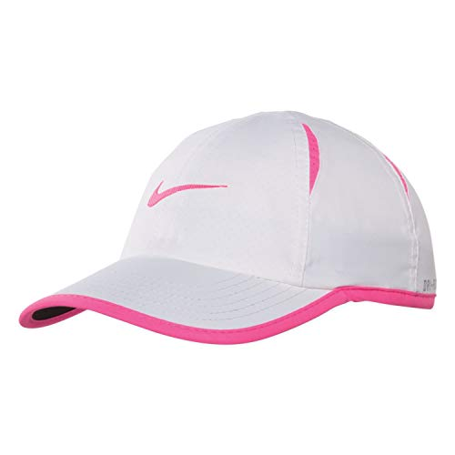 Nike Boy's Featherlight Printed Adjustable Hat (White(7A2435-WA3)/Pink Power, 2T/4T)