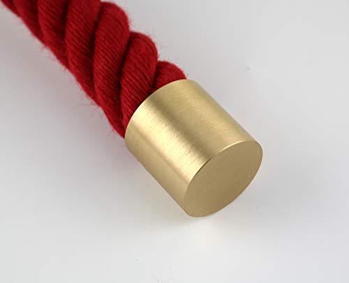 Unbekannt Capuchon de corde en laiton mat pour corde de main courante de 30 mm (cordes de main courante / de verrouillage).