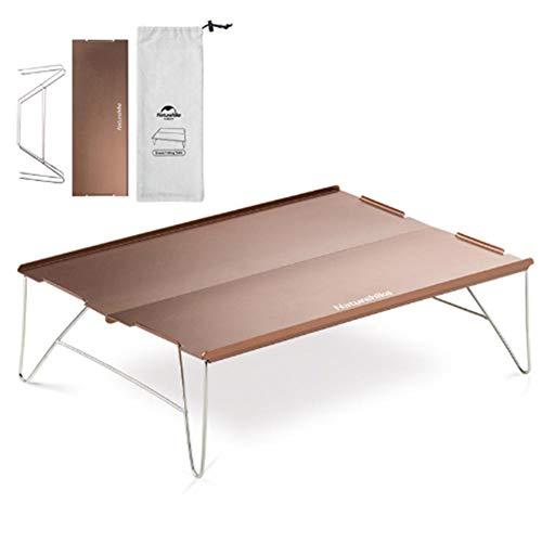 Explea Ultraleichter Tragbarer Camping-Tisch,Kleiner Ultraleichter Klapptisch Mit Aluminium-Tischplatte Zum Wandern,Camping,Outdoor-Rucksack-Minitisch