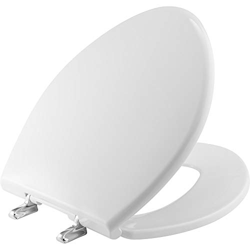 BEMIS 1000CPT Paramount Heavy Duty OVERSIZED Closed Front Toilet Seat with 1,000 lb Weight limit will Never Loosen & Reduce Call-backs, ROUND/ELONGATED, Plastic, White