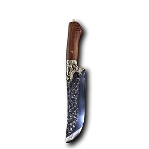 8 pulgadas hecha a mano china cocina cocinero cuchillo afilado de carnicero cortador de verduras de hoja fija descubierto utensilios de cocina Cuchillo de cocina