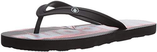 Volcom Lo FI Shoe Schwarz Sneaker, Tongs Homme, Noir (Electric Coral), 41.5 EU
