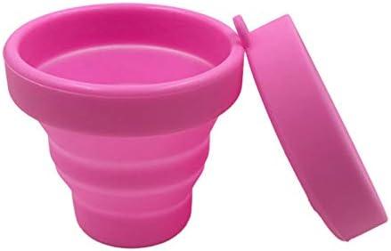 Summerwindy Copa Menstrual Vaginal y Vaso Esterilizador Vasos Esterilizantes Plegables Flexible para Limpiar Taza Plegable de Camping Reciclable para ...