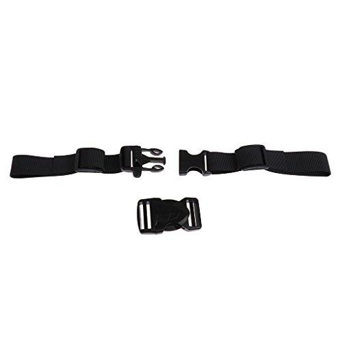 D DOLITY Verstellbarer Rucksack Gurtband mit Schnallen Rucksack Ersatz Brustgurt - Schwarz