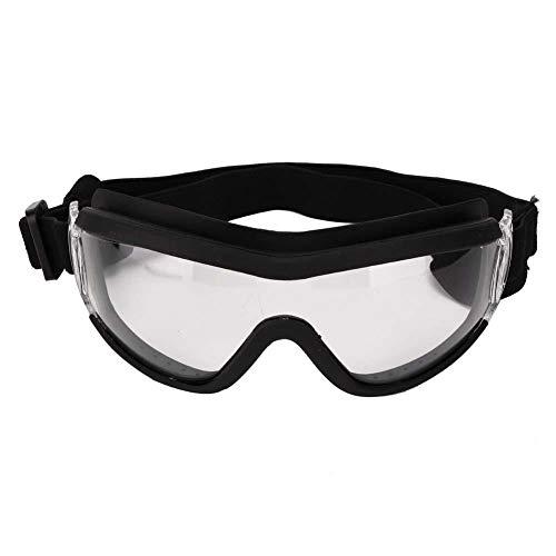 GOTOTOP Occhiali per Cani, Occhiali da Sole Anti-UV per Occhiali da Vista Occhiali da Sole Impermeabili Antivento(Trasparente)