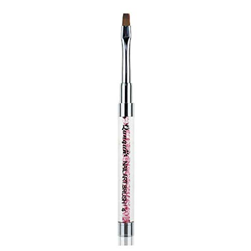 YOSIYO Nail Art Brush Pen Acrylic Rhinestone Handle Brushes Uv Gel Flat Nail Brush DIY Manicure Salon Brush Nail Brush
