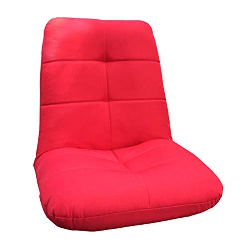WSZMD Faule Couch Tatami Bett Lounge Liegestuhl Balkon Schlafzimmer Lesen Kleines Sofa Schachtfenster Rückenlehnenstuhl, Schlafsofa (Color : Red)