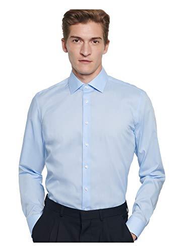 Seidensticker Herren Business Bügelfreies Hemd mit sehr schmalem Schnitt - X-Slim Fit, Blau (Blau 12), 38