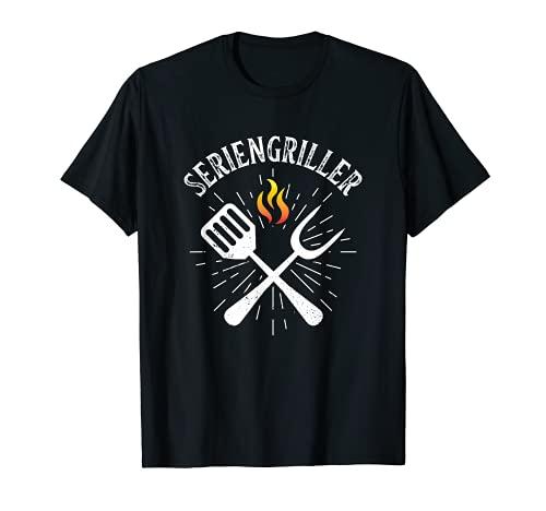 Grillsaison Seriengriller Grill Grillmeister grillen Grill T-Shirt