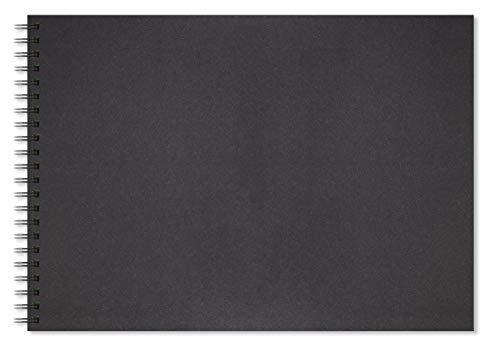 Artgecko Shady Skizzen A3 Landschaft 80 Seiten (40 Blatt) 200gsm säurefrei Black Card