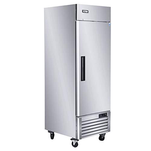 KITMA 27'' Single Door Reach in Commercial Refrigerator - 23 Cu. Ft Stainless Steel Heavy Duty...