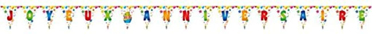 P 'tit Clown 40401?Garland?–?Flame 19?Happy Birthday Bunting?–?1?Letter?–?Multi-Coloured