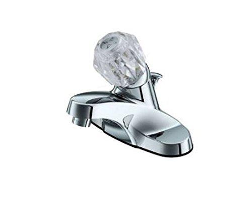 """Project Source 65456W-6001 1-Handle 4"""" Centerset Commercial Bathroom Faucet, Chrome"""