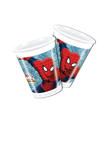 Procos 85152 – Teller Papier Ultimate Spider Man Web Warriors, Ø20 cm,