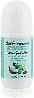 Desodorante Roll On Natural con Aceite de Coco, Manteca de Cacao y Algas Para Hombres y Mujeres. Sin Aluminio, Parabenos. ...