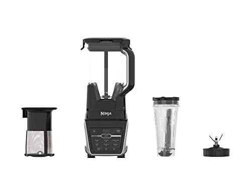 Ninja Duo w/Micro-Juice Technology, 1400-peak-watt Motor for Smoothies & Juices. Blender with DrinkSaver for Freshness (IV701), 72 oz, Black (Renewed)