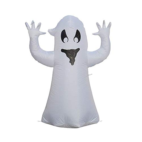 HOBBMS LED Lighted Naughty Ghost Dolls Decoration Props Ornaments Toys For Indoor Outdoor Home Courtyard Lawn Garden Theme Party Decor,Halloween Inflatable Towering Terrible Spooky Ghost