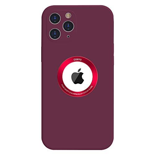 Funda Silicone Case Compatible con iPhone 12 6.1', Magnética Carcasa Compatible con Carga Inalámbrica, Carcasa de Silicona Líquida Suave Case para iPhone 12 (2020) 6.1'-Vino Rojo