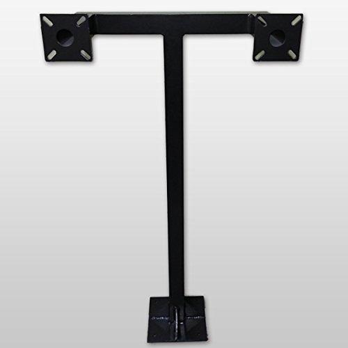 GooseNeck Keypad Stand Intercom Holder Gooseneck Stand Pad Mount Aluminum Keypad Double Key 9 Color Black)