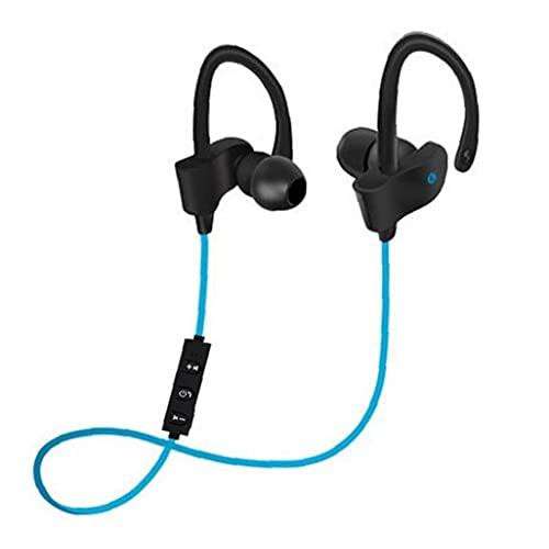 Odoukey-Auriculares Inalámbricos Bluetooth Auriculares Deporte Earbudos Tributos Cancelación de ruido Cancelación Handshree In-Ear Auriculares con micrófonos Azul