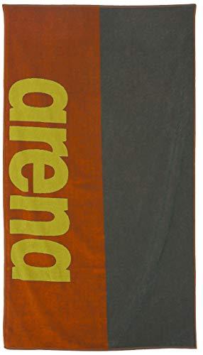 ARENA Beach Towel Toalla de Playa algodón Soft, Adultos Unisex, Tangerine Army, Tu