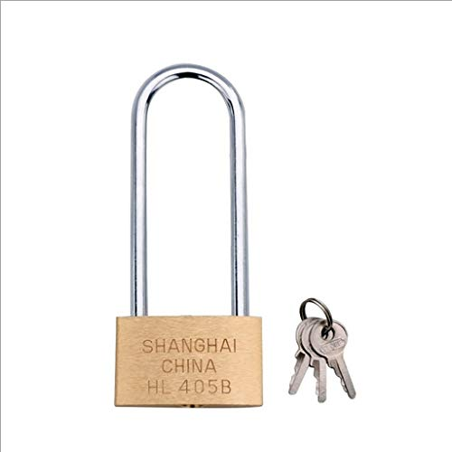 Copper Padlock Small Lock, Style: Long Lock Beam, 50mm Application: Backpackage, Suitcase, Drawer, Door, Etc