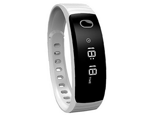ACMEDE Bluetooth Smartwatch Fitness Tracker Smart Armband Sport Uhr mit Schlafmonitor, Schrittzähler, Kalorienzähler, SMS und Anrufe Reminder für iPhone iOS und Android Smartphones