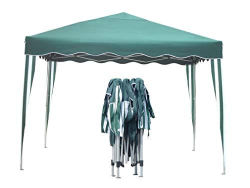 Kronenburg Faltpavillon wasserdicht Dachmaß 3 x 3 m UV Schutz 50+ Pavillon in Grün mit 4 Seitenteilen - 2