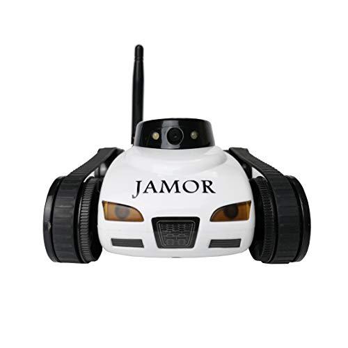 JAMOR Home Patrol Toy Car Mobile Remote Control Video Car Electric Crawler Toy Car Panoramic Camera...