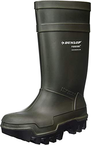Dunlop Protective Footwear Purofort Thermo+ Full Safety Unisex Adulto Stivali di Gomma, Verde 42 EU