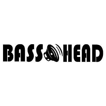 Minglewood Trading White - Bass Head 11.5  x 2  Vinyl Decal Sticker -V2- EDM Music Speaker Basshead Head Banger - 20 Color Options