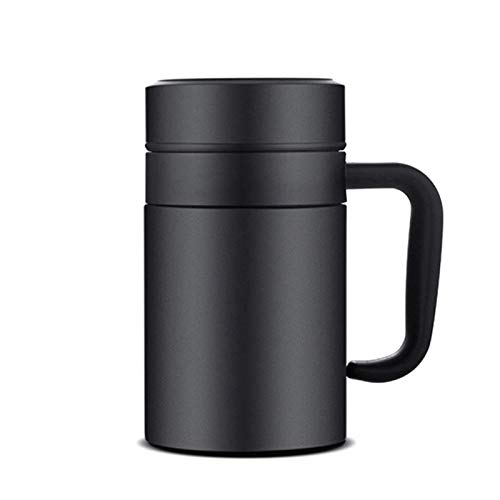 Portable Coffee Travel Mug Cup Thermos,Insulated Coffee Mug With Handle And Lid, Stainless Steel Vacuum Thermal Cup With Removable Tea Infuser Great Gift Idea For Men the Best Gift for Winter