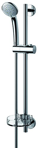 Ideal Standard B9503AA Brausegarnitur IDEALRAIN S3 3 Funktion Handbrause, Stange 60cm Schlauch 1750mm, verchromt