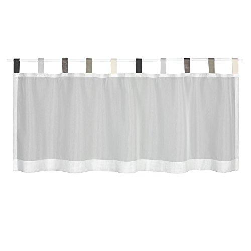 Gerster Happy, tenda da bistrò, tendina a vetro, pannello semitrasparente, larghezza/altezza: 140 x 50 cm, colore neutro