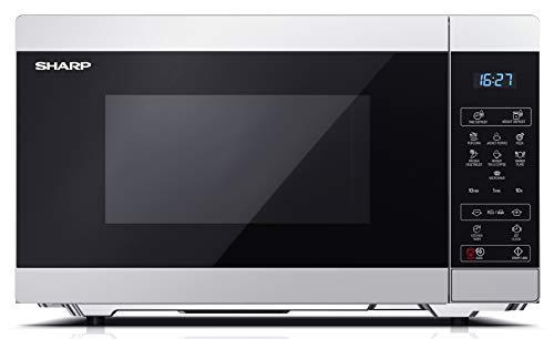 Sharp YC-MS51ES - Forno a microonde 25litri con funzione scongelamento, 11 livelli di potenza, 900W potenza microonde e 1000W potenza Grill, funzione timer, piatto girevole incluso