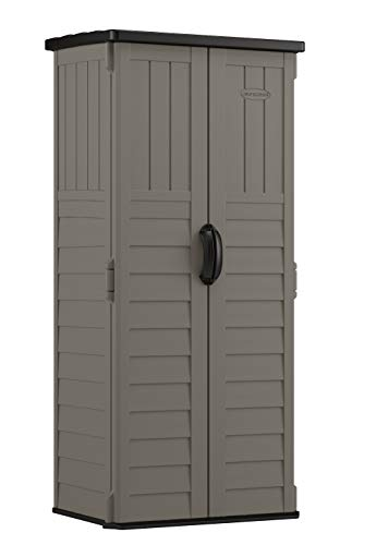 Suncast BMS1250SB Vertical Storage Shed, Stoney