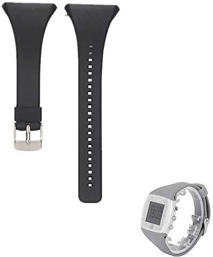 Hensych Silikon Watchstrap Uhrband Ersatz Uhrenarmband Armband für Polar FT4 FT7 Uhr (Black)
