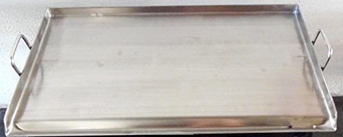 32' x 17' Stainless Steel Comal Flat Top BBQ Cooking Griddle For Stove or Grill