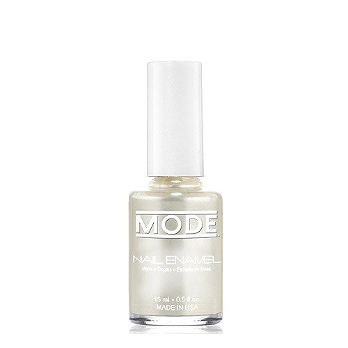 MODE Nail Enamel 0.50 fl oz, Luxurious Snow White Ultra Frost Pearl - Shade #163, Long Wear, High Gloss, Chip Resistant, Cruelty-Free & Vegan Salon Nail Polish, Made in the Beautiful USA
