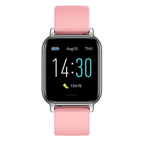 MUCXI S50 Sports Heart Rate Watch Watch Thermometer Step Impermeable Bracelet Smart Watch (Color : Pink)