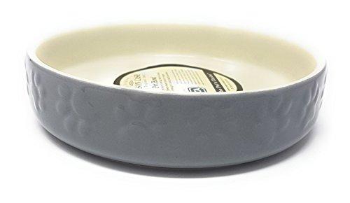 De Luxe Porcelaine Lourd Patte Chat Animal Gris Crème Bol Soucoupe 12CM