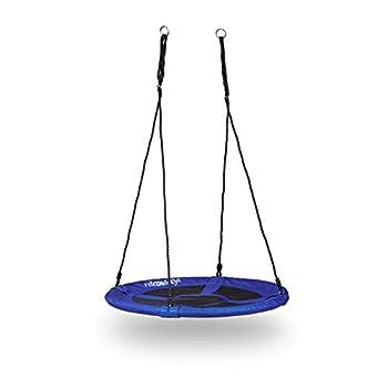 Balançoire extérieure: pour le jardin, la terrasse, le camping ou intérieur Charge maximale: peut être utilisée par les enfants et adultes jusqu'à 100 kg Pratique: montage rapide et hauteur ajustable, emportez la en vacances avec vous! Rembourrée: le...
