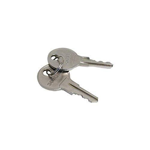 Southco CH751 Keys for RV Campers, Cabinets, Push Locks (2 Keys)