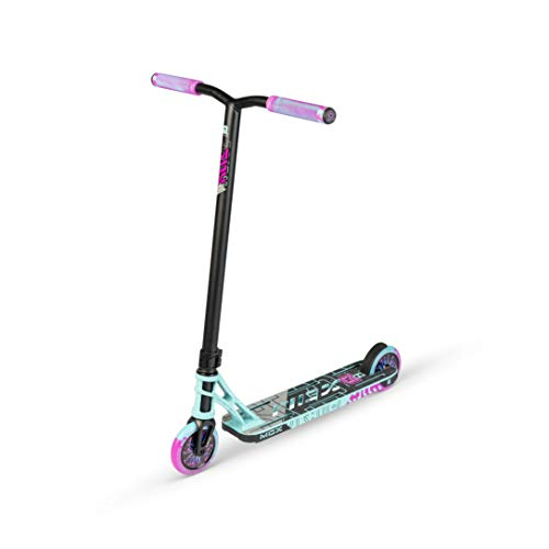 MADD MGP Gear MGX Freestyle Stunt Scooter Pro - Patinete para acrobacias, color turquesa y rosa