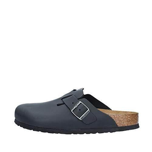 Birkenstock Clogs ''Boston'' from Leather in Black 39.0 EU N
