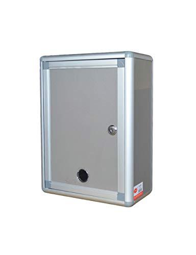 XMGJ Buzones con sistema de seguridad Buzón de sugerencias de pared con cerradura de aleación de aluminio Buzones