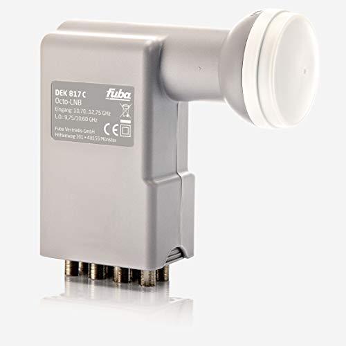 Fuba DEK 817 C Octo LNB - Octo-Switch Universal LNB 8 Teilnehmer mit optimaler Mobilfunkabschirmung, mit Wetterschutzgehäuse (digital, HDTV-tauglich, 4K/UHD-tauglich, 3D-tauglich)