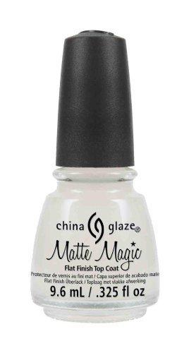 China Glaze Matte Magic Flat Finish Top Coat .325 oz. by AII BEAUTY (English Manual)